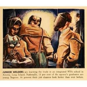 1942 Print Welders NYA School Astoria Long Island New York