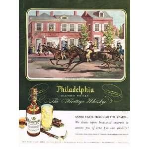 1948 Philadelphia Blended Whiskey Original Advertisement