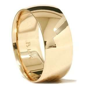 Fit Solid 14k Yellow Gold Mens WIDE High Polished Wedding Ring Band