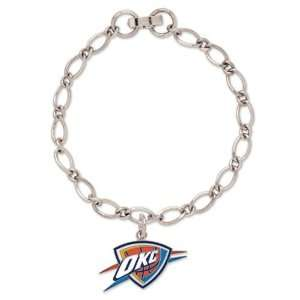 City Thunder Ladies Silver Tone Charm Bracelet