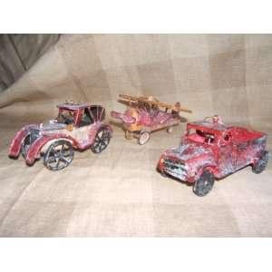 Antique Car, Truck & Plane Ornaments ~ Set of 3