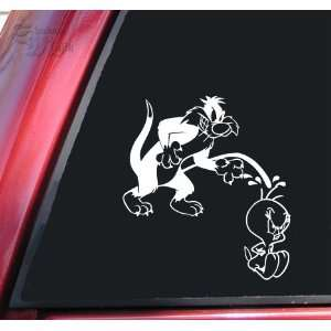 Sylvester Going On Tweety White Vinyl Decal Sticker