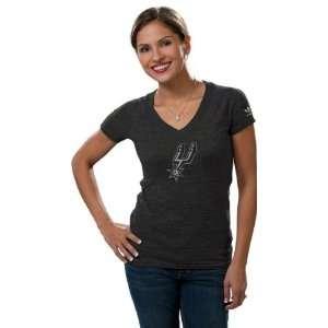 San Antonio Spurs Womens Big Better Logo Tri Blend V Neck T Shirt