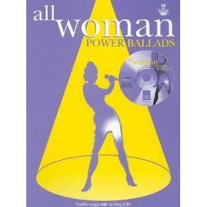 All Woman Power Ballads (Piano/Vocal/Guitar) (Book & CD