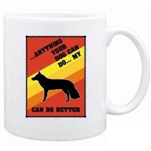 Dog Can Do  My White German Shepherd Dog Can Do Better  Mug Dog