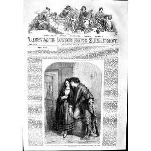 1853 STREET SCENE SPAIN MAN LADY ROMANCE JOHN ABSOLON