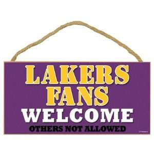 Los Angeles Lakers Small Wood Welcome Sign Sports