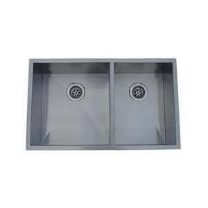 10x10 Double Bowl Under mount Stainless Steel Sink