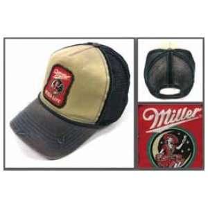 Baseball Cap   Miller   Lady in Moon Hat Grey Trucker