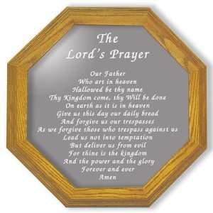 Etched Mirror The Lords Prayer Decor in Solid Oak Frame