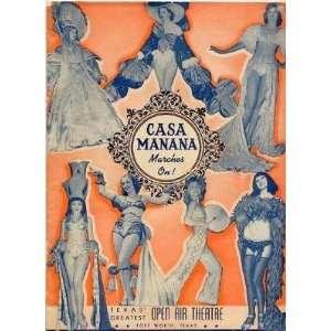 Casa Manana MARCHES ON Souvenir Program 1930s Fort Worth Texas Martha