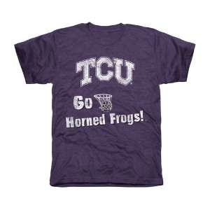 NCAA TCU Horned Frogs Cheering Section Tri Blend T Shirt   Purple