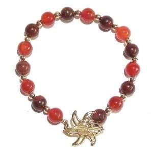 The Black Cat Jewellery Store Fire Carnelian & Poppy Jasper Bracelet