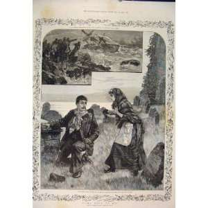 Ship Wreck Sailor Man Lady Sea Story Overend Scott 1885
