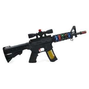 20 M16 Rapid Fire Machine Gun Toy with Lights & Sound Toys & Games