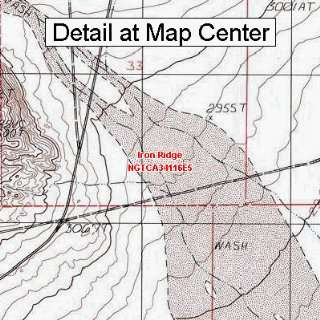 USGS Topographic Quadrangle Map   Iron Ridge, California (Folded