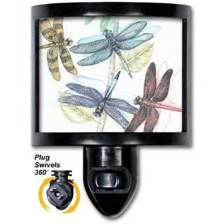 Dragonfly on Lotus Flower Night Light with Light Sensor