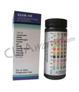 10 Parameter Urine Dip Strip Test_____100 Test Strips