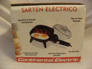 SMALL CONTINENTAL ELECTRIC SKILLET 32 OZ CAPACITY   NIB