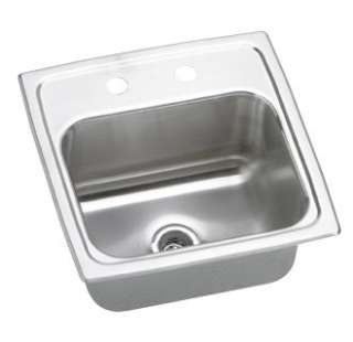 Elkay BPSR15 Single Basin Stainless Steel Top Mount Bar Sink from the