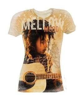 Mellow Mood Girls Bob Marley Rock Babydoll Shirts