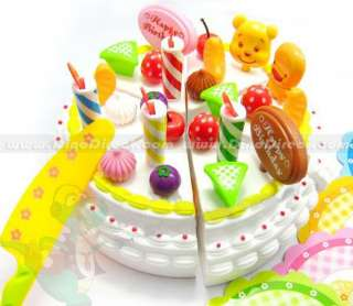 Happy Birthday Party Play Food Pretend Cake Set   DinoDirect
