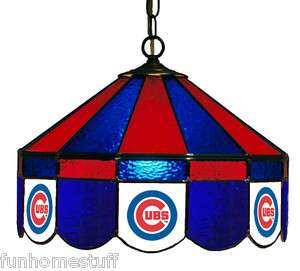 CHICAGO CUBS MLB 16 STAINED GLASS HANGING LAMP HOME PUB BAR TABLE