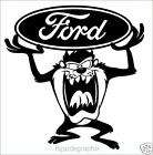 Taz Devil, Cartoon, Ford Vinyl Decal