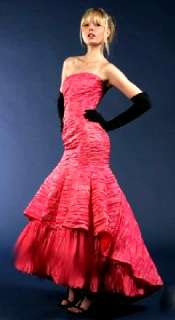 NWT Jessica McClintock $341 Coral Gown Dress Size 4