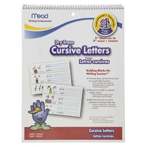 Mead Cursive Letters Dry Erase Book, Bilingual: Office