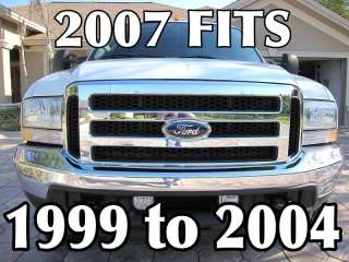 2005 F250 F350 FORD CHROME GRILL CONVERSION 1999 2004