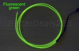 Flexible Neon Light Glow EL Wire Rope Tube Car Party 1M Fluorescent