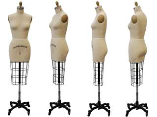 Professional dress form, Mannequin, Size 2, w/Hip+Arm