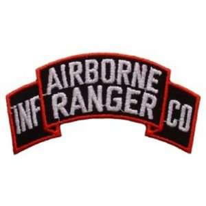 U.S. Army Airborne Ranger Patch Black & White 4 Patio