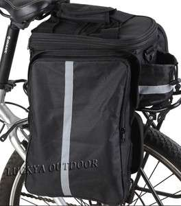 Bike Cycling Bicycle Double Rear Tail Bag Pack Pouch Pannier 13 L