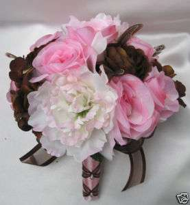 Bridal Bouquet wedding flowers Bouquets CHOCOLATE PINK
