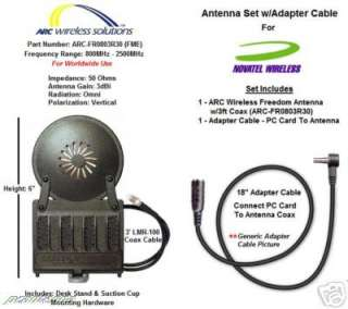 ARC Freedom Antenna & Adapter Cable   Approved By Novatel Wireless