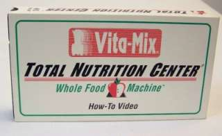 Vita Mix Total Nutrition Center Whole Food Machine How To Video VHS