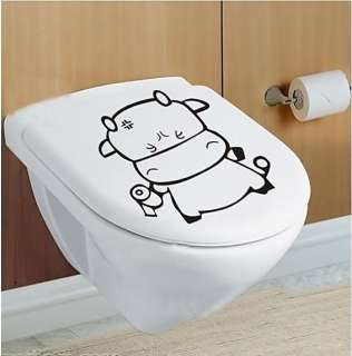 Wash Room Toilet Roll Paper Decor Mural Wall Sticker Decal S061