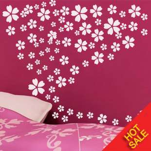 Cherry Blossoms Flowers Deco Mural Art Wall Sticker Decal S068