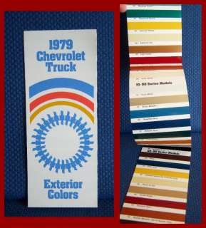 1979 CHEVROLET Truck Paint Color Brochure   GM Issued