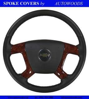 2009 2010 2011 Silverado Tahoe Steering Wheel Burl Spoke Covers   NEW