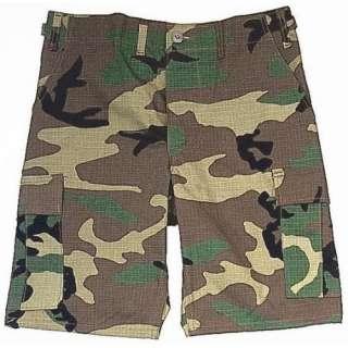 Woodland Camouflage Military BDU Cargo Shorts 65212 Size