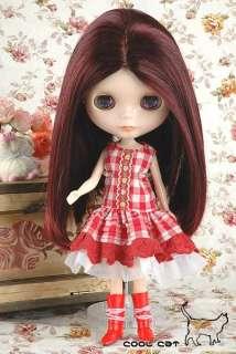 CoolCat, Custom Blythe Wigs ( D2 0218 02 ) Wine Red