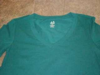 NWT Duo Maternity LS Teal Green T Shirt Top S L
