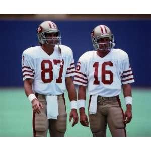 DWIGHT CLARK & JOE MONTANA SAN FRANCISCO 49ERS 8X10 SPORTS