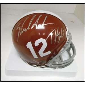Trent Richardson and Nick Saban Autographed Alabama Mini