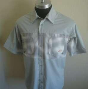 Tone Gray Fox Racing Button Down Bowling shirt M