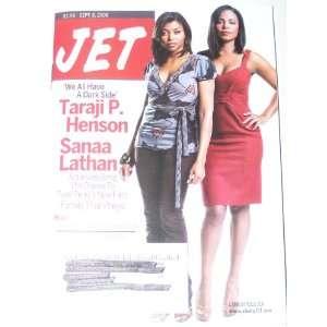Jet Magazine Sept. 8, 2008 Taraji P. Henson & Sanaa Lathan