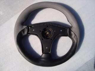 car Yamaha steering wheel golf cart custom Grey & Black 3 Spoke